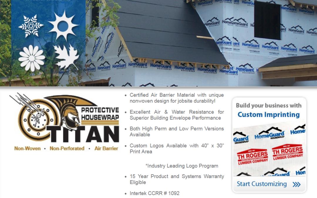 New In Stock Home Guard Titan Housewrap The Building Center